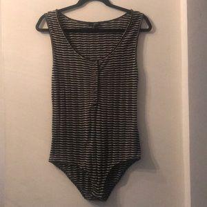 Lucky Brand Striped Sleeveless Bodysuit